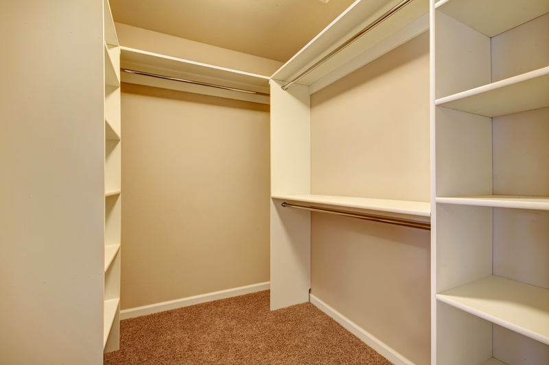 Closets need to look spacious